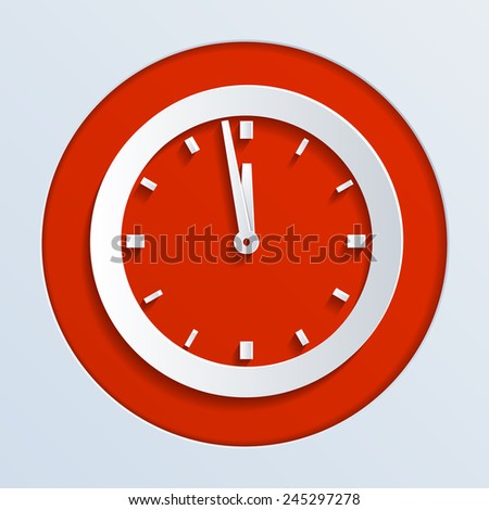 Wall Clock New Year's Eve - stock vector