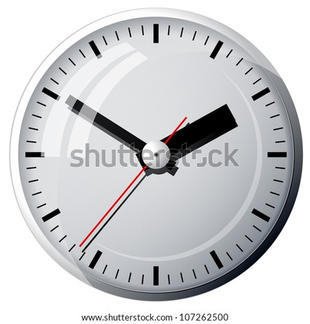 Wall clock. The electronic device. Vector illustration. - stock vector