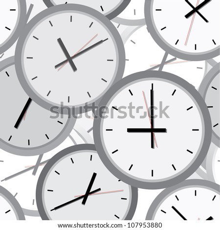 Wall clock. The electronic device. Vector illustration. Seamless. - stock vector
