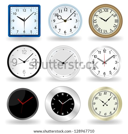 Wall Clock vector - stock vector