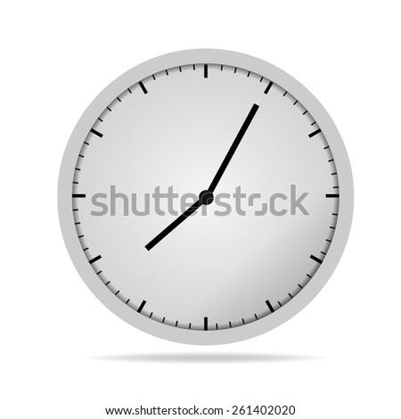Wall clock.Vector illustration  - stock vector