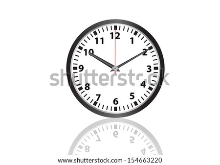 wall clock vector images - stock vector