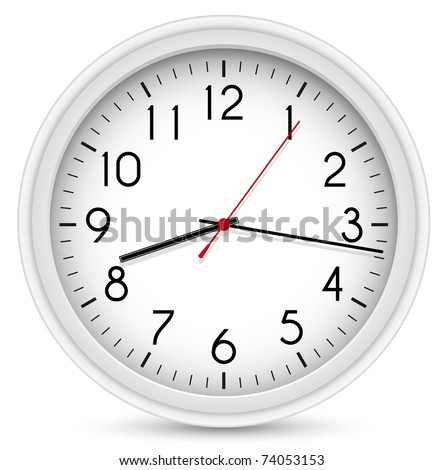 Wall Clock. Vector Office Clock - stock vector