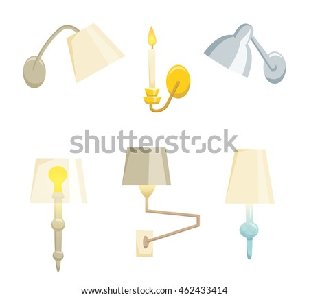 Wall Lamps Vector : Wall Lamps. Stock Images, Royalty-Free Images & Vectors Shutterstock