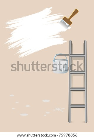 wall painting - stock vector