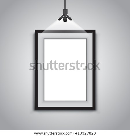 wall template of gallery - stock vector