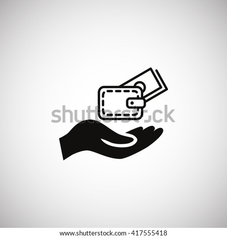 Wallet and hand icon.Wallet and hand Vector.Wallet and hand icon Art.Wallet and hand icon eps.Wallet and hand icon Image.Wallet and hand icon logo.Wallet and hand icon Sign.Wallet and hand icon Flat. - stock vector