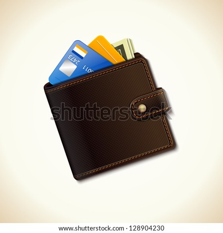 Wallet business icon - stock vector