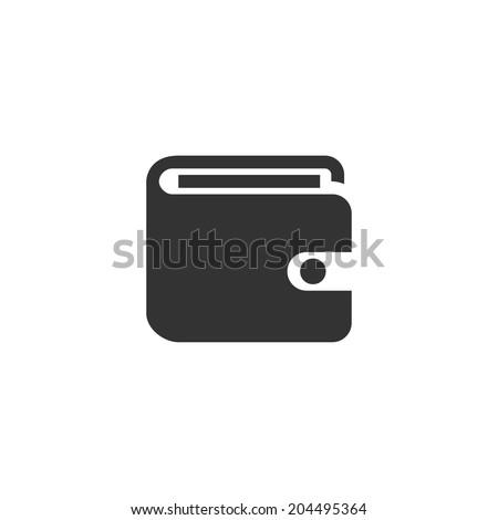 Wallet icon - stock vector