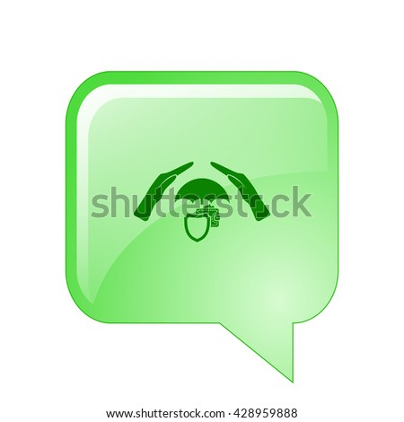 Wallet Protection Icon. Flat Design. - stock vector