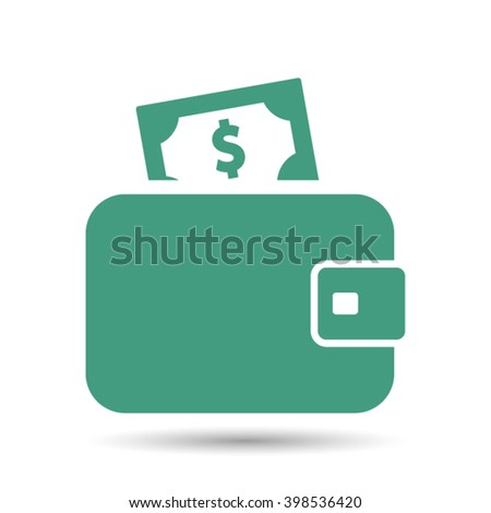 Wallet . Vector icon 10 EPS