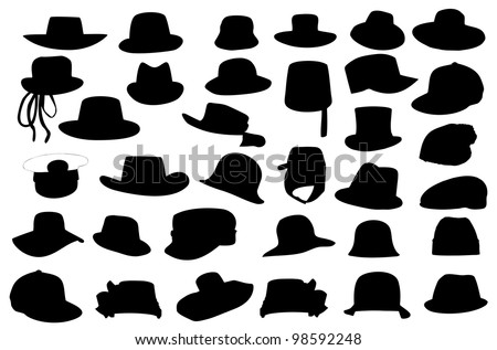 Wallets collection silhouette vector illustration isolated on white background. - stock vector