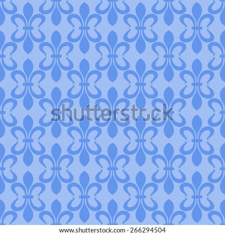 Wallpaper Background. Seamless pattern. Retro texture. Blue Color. Vector image  - stock vector