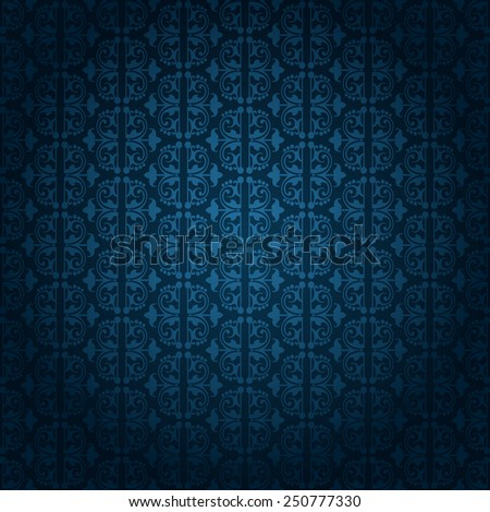 wallpaper blue color, old style, template, image for your design - stock vector