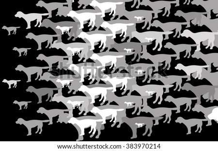 Wallpaper depicting a dog with multiplication - stock vector