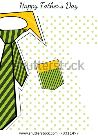 wallpaper for happy daddy day celebration - stock vector