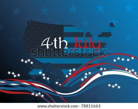 wallpaper for us independence day - stock vector