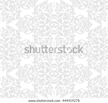 Wallpaper in baroque style. Classic ornament. Damask pattern.Seamless vector background.