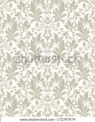 Wallpaper in the style of Baroque. A seamless vector background. - stock vector