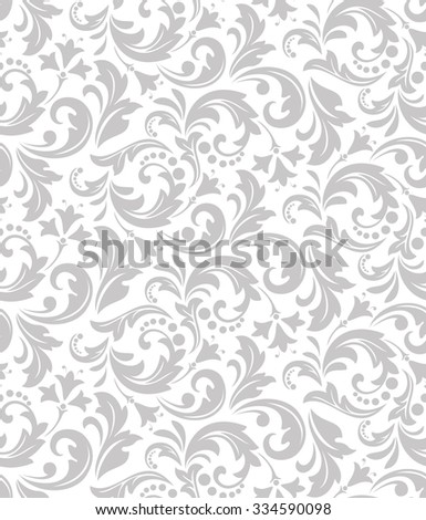 Wallpaper in the style of Baroque. A seamless vector background. Floral ornament - stock vector