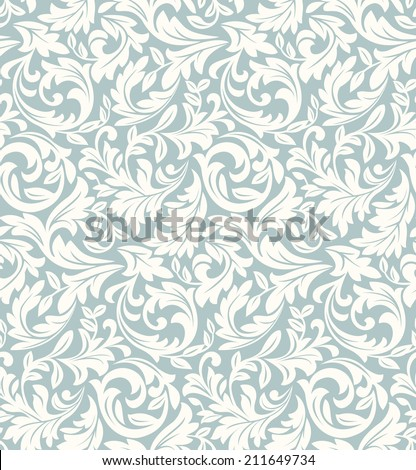 Wallpaper in the style of Baroque. A seamless vector background. Floral pattern. - stock vector