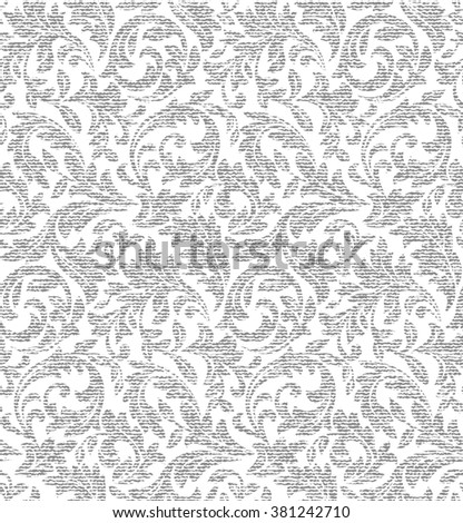 Wallpaper in the style of Baroque. A seamless vector background. Floral pattern. Fabric texture. - stock vector