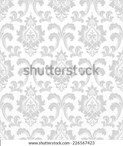 Wallpaper in the style of Baroque  A seamless vector background  Gray and  white texture. Victorian Wallpaper Stock Images  Royalty Free Images   Vectors