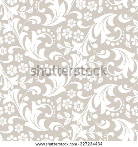 Wallpaper in the style of Baroque. Seamless vector background. Damask floral pattern.