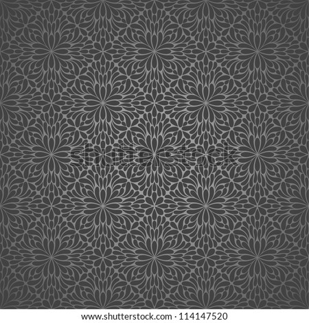 Wallpaper pattern,black.  Vector background.Seamless - stock vector