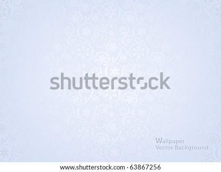 Wallpaper Pattern, Winter background - stock vector