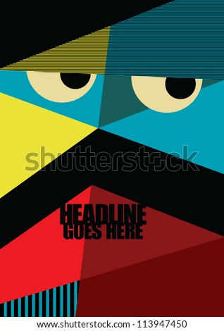 Wallpaper Print Vector Poster Design Template Layout Background Graphics