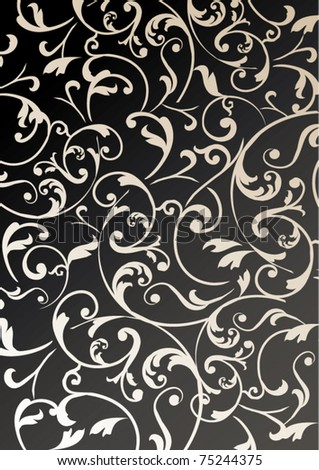 wallpaper vintage background - stock vector
