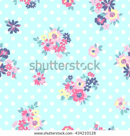 wallpaper vintage pink flower pattern