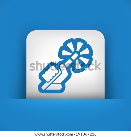 Wand icon - stock vector