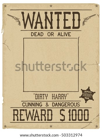 Cartoon Wanted Poster Stock Images RoyaltyFree Images Vectors