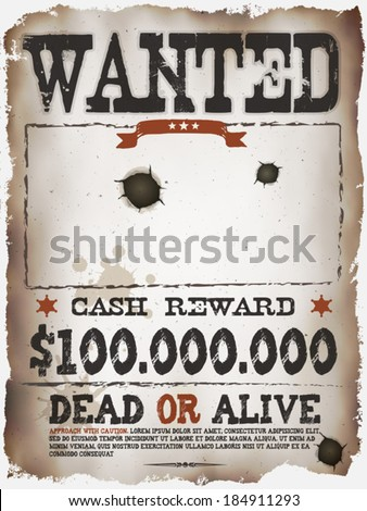 Wanted Poster Stock Images RoyaltyFree Images Vectors