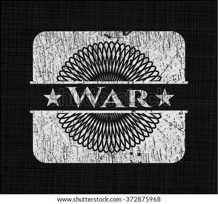 War chalk emblem written on a blackboard - stock vector
