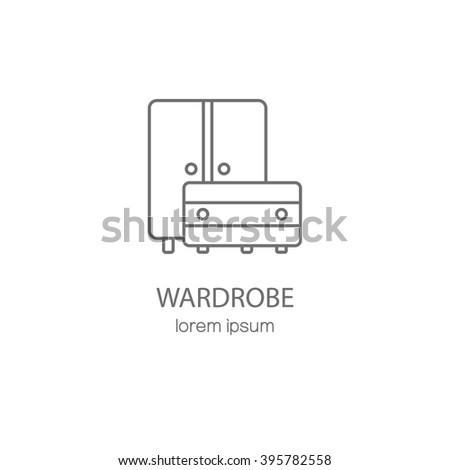 wardrobe template. wardrobe wood furniture logotype design templates modern easy to edit logo template vector t
