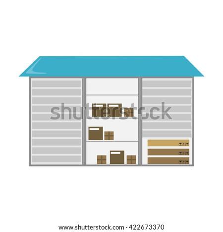 Warehouse icon.  - stock vector