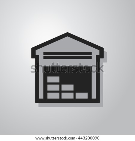 Warehouse Icon - stock vector