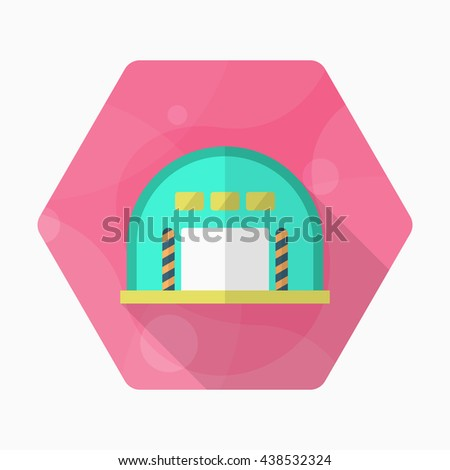 Warehouse icon, Vector flat long shadow design. Shipping and logisticst concept. - stock vector