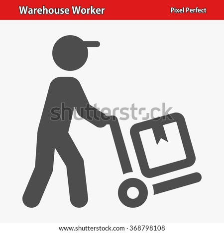 Warehouse Worker Icon. Professional, pixel perfect icons optimized for both large and small resolutions. EPS 8 format. - stock vector