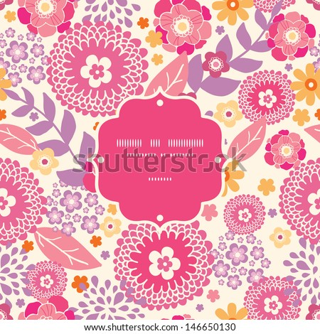 Warm summer plants frame seamless pattern background