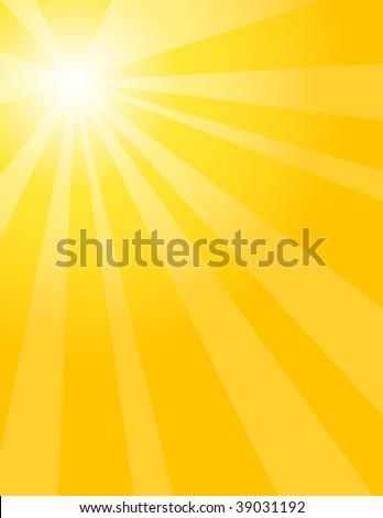 Warm sun rays - stock vector