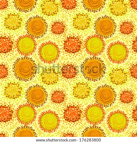 Warm yellow and orange colors