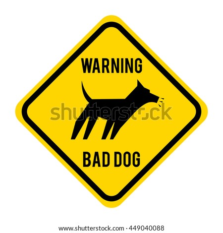 warnin bad dog isolated icon design, vector illustration  graphic