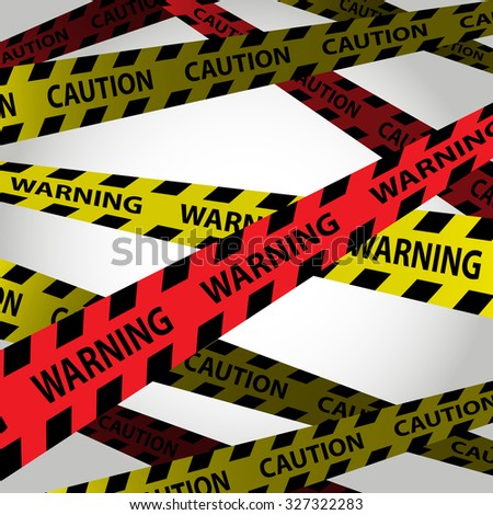 warning and caution tape design on background
