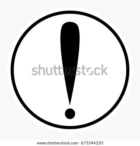 Warning Danger Sign Attention Symbol Stock-Vektorgrafik 673344220 ...