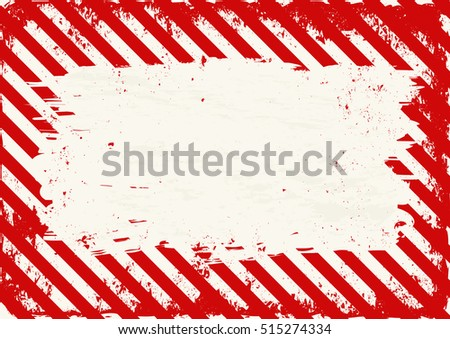 warning background with red and white stripes