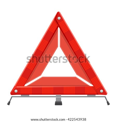 warning emergency triangle vector illustration isolated on a white background